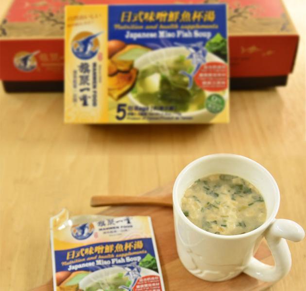 丸文鮮魚杯湯 日式味噌 (15g*5包 ) 1