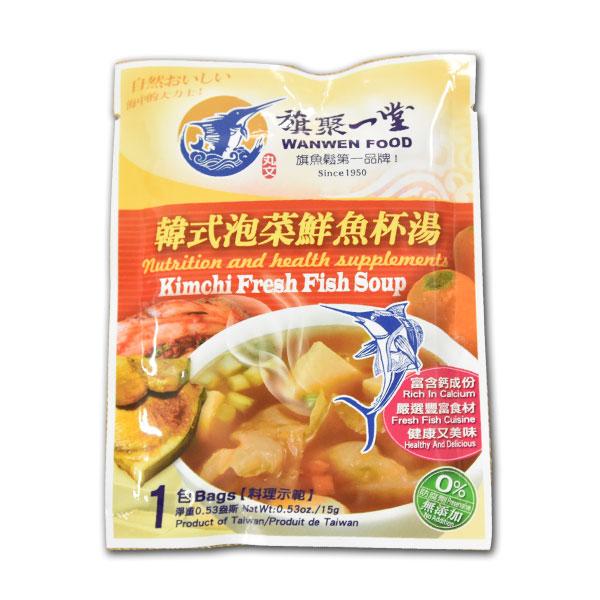 丸文鮮魚杯湯 韓式泡菜 (15g*1包) 1